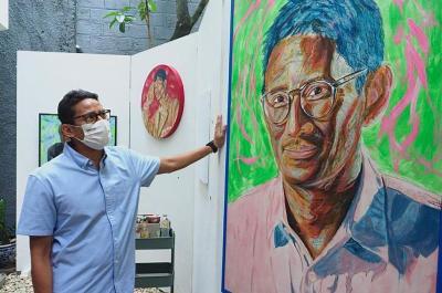 Sandiaga Uno Akan Bentuk Ekosistem Ekonomi Kreatif di Subsektor Seni Rupa