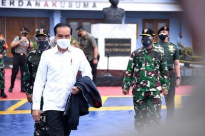 Presiden Jokowi Tinjau Langsung Lokasi Gempa Sulbar
