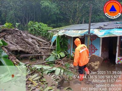 BNPB: 900 Orang Terdampak Banjir Bandang di Gunung Mas Bogor