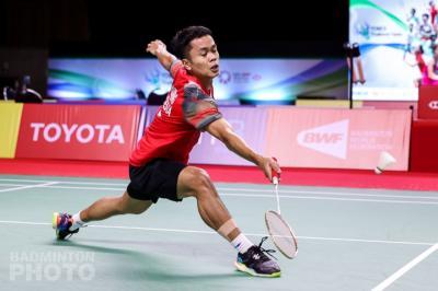 Anthony Ginting Susul Shesar Hiren ke Babak Kedua Thailand Open 2021