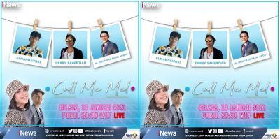 Call Me Mel Live di iNews dan RCTI+ Selasa Malam Pukul 20.30: Debby Sahertian x Elmandsipasi, Dosen dan Mahasiswa Bahasa Gaul