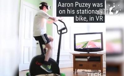 Viral! Pria Naik Sepeda Virtual, Netizen: Asyik Bisa Sepedaan di Luar Negeri
