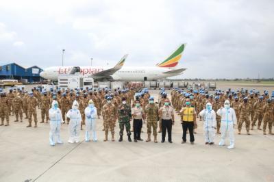 Selesai Misi Perdamaian di Lebanon, 186 Prajurit TNI Tiba di Indonesia