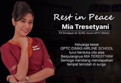 Kesedihan Sahabat Usai Ditinggal Mia Tresetyani, Pramugari Korban Sriwijaya Air SJ 182