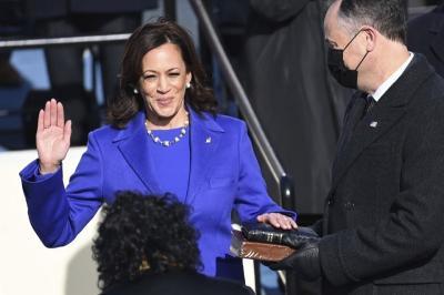 Cerita di Balik Kalung Mutiara Kamala Harris di Hari Pelantikan Presiden AS