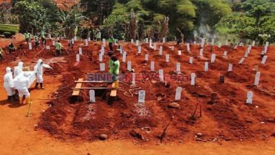 Pemprov DKI Buka 3.000 Meter Persegi Lahan Baru Jenazah Covid-19 di TPU Bambu Apus