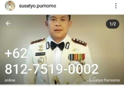 Hati-Hati! Beredar Nomor Whatsapp Palsu Kapolresta Bogor