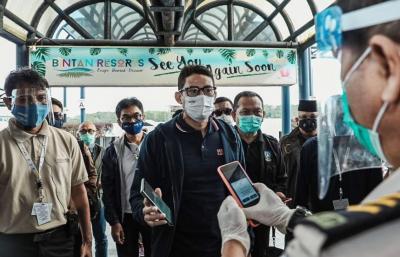 Kepri Harap Sandiaga Uno Bisa Buka Akses bagi Turis Singapura & Malaysia