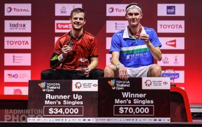 Hasil Lengkap Final Thailand Open 2021, Viktor Axelsen dan Carolina Marin Juara Lagi