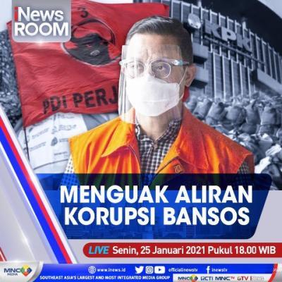 """""""iNews Room"""" Live di iNews dan RCTI+ Senin Pukul 18.00: Menguak Aliran Korupsi Bansos"""