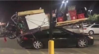 Viral! Atap Honda Accord Penuh Barang Rumah Tangga, Netizen Geleng Kepala