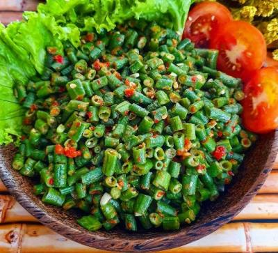 Nikmatnya Pencok Kacang Panjang, Bikin Makan Tambah Lahap