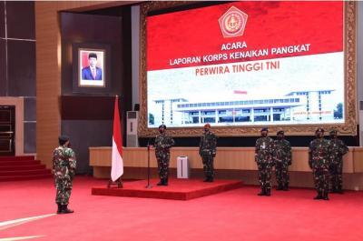Panglima TNI Pimpin Laporan Kenaikan Pangkat 22 Jenderal, Ini Daftarnya
