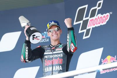 Kenang Momen Kemenangan Perdana di MotoGP, Quartararo: Itu Sangat Emosional