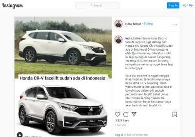 Honda CR-V Facelift Tertangkap Kamera di Kawasan Serpong