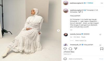 Hamil Trimester 3, Zaskia Sungkar: Dasteran Plus Minyak Kayu Putih