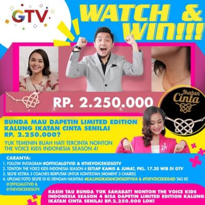 Nonton The Voice Kids Indonesia, Gratis Kalung Ikatan Cinta Buat Bunda!