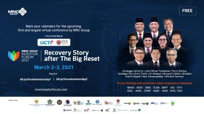 H-3, Segera Daftar! Cek Jadwal Pembicara di Situs Resmi MNC Group Investor Forum 2021!