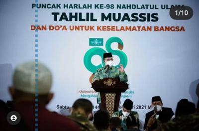 Harlah ke-98 NU, Anies: Penjaga Utama & Sabuk Pengaman Perjalanan Bangsa Indonesia