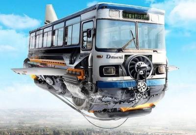 Netizen Ini Ubah Bus Jadul Jadi Pesawat Terbang Keren
