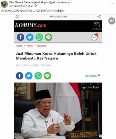 Beredar Hoaks Miras Diperbolehkan untuk Bantu Kas Negara