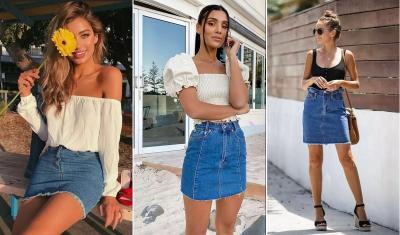 Tips Padu Padan Rok Jeans, Tampil Girly Tetap Kece!