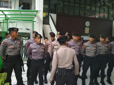 Sidang Lanjutan Kasus John Kei, Polisi Lakukan Pengamanan