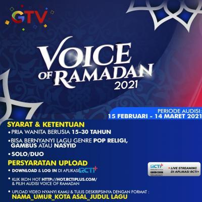 Ribuan Talenta Musik Pop Religi Ikuti Audisi Online Voice of Ramadan di GTV!
