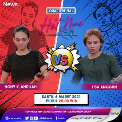 Turnamen Biliar Hot Nine: Dua Jagoan Jabar Nony dan Tisa Berlaga di Perempatfinal