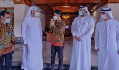Sehari Jelang Ground Breaking Masjid Pangeran Arab, Gibran Terima Utusan dari Abu Dhabi