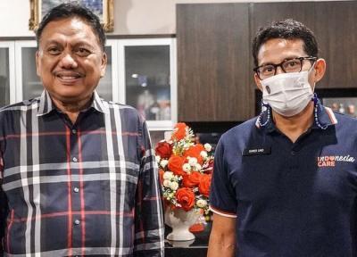 Sandiaga Uno Bertemu Gubernur Sulut Bahas Pengembangan Desa Wisata