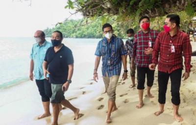 Sandiaga Uno Dorong Pembangunan Infrastruktur Pariwisata Likupang