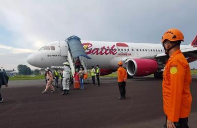 Tim KNKT Investigasi Penyebab Pesawat Batik Air Mendarat Darurat di Bandara Jambi