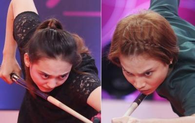 Turnamen Biliar Hot Nine: Berlangsung Ketat, Tisa Maju ke Semifinal Setelah Menang 3-2 Atas Nony