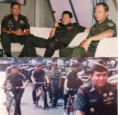 Viral! Anak Buah Jokowi Unggah Foto Jadul SBY, Hendropriyono dan Moeldoko
