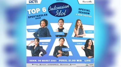 6 Finalis Akan Berduet di Spektakuler Show Indonesian Idol Malam Nanti