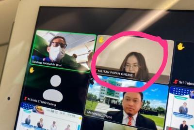 """Isi Webinar, Sandiaga Uno Salah Fokus dengan Nama Peserta """"Militan Papah Online"""""""