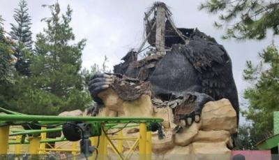 Patung Gorila di Batu Secret Zoo Ambruk Pasca-Gempa Magnitudo 6,7