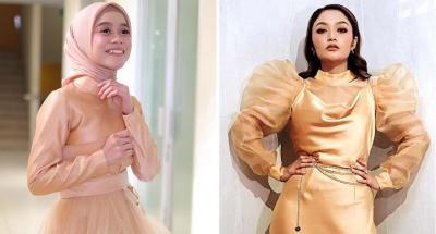 3 Adu Gaya Lesti Kejora Vs Siti Badriah Pakai Gaun Cantik