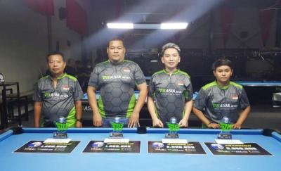 Atlet Rudi Ateng dari Jakarta Juarai Turnamen Biliar Carom