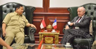 Menhan Prabowo Terima Kunjungan Kehormatan Dubes Prancis
