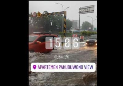 30 Menit Diguyur Hujan, Sejumlah Wilayah di Jakarta Tergenang