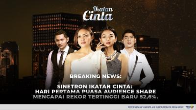 Pecah Rekor Lagi, Ikatan Cinta Tembus 52,6% Audience Share