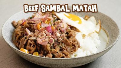Resep Sahur, Beef Gyudon Sambal Matah ala Finalis MasterChef