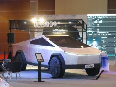 Prestige Pajang Tesla Cybertruck di IIMMS Hybrid 2021 dengan Tampilan Unik dan Keren