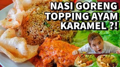 Nasi Goreng Topping Ayam Bakar Karamel Terenak di Purbalingga, Kulineran Bareng Fifin Yuk!