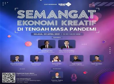 Saksikan Live Webinar 'Semangat Ekonomi Kreatif di Tengah Masa Pandemi', Segera Daftar di Sini