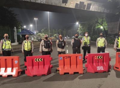 Polisi Sekat Wilayah Gambir Antisipasi Sahur On The Road