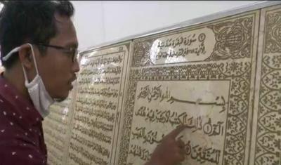 Al-Quran di Pekalongan Ini Terbuat dari 14 Ton Keping Marmer asal Itali