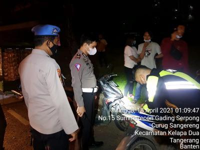 Patroli Cegah Sahur On The Road, Polres Tangsel Tahan 4 Motor Bodong